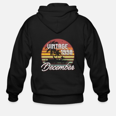 December 20th Birthday Gifts Retro Vintage December 1998 - Men's Zip Hoodie