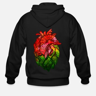 Beer Hop Heart Craft Beer - Men's Zip Hoodie