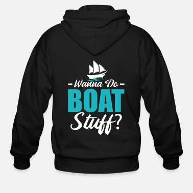 Cruise Boating Sailboat Sailing Ship Funny Gift - Men's Zip Hoodie