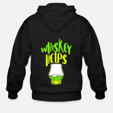 Tequila Whiskey Helps Fresh Funny Fathers Day Shirt - Men's Zip Hoodie