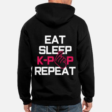 K-pop Eat Sleep K-Pop Repeat - Men's Zip Hoodie