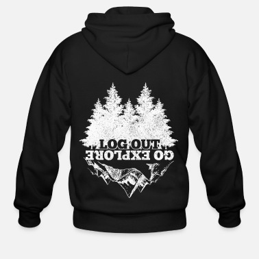 Mountains Hiking Nature Camping Outdoor Gift - Men's Zip Hoodie