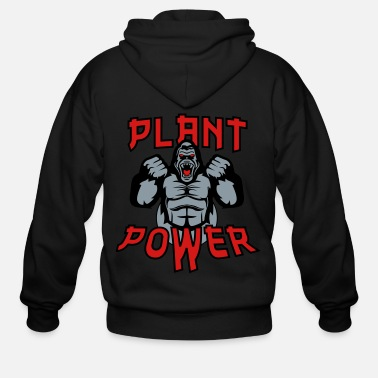 Plant Grounds Plant Power - Men's Zip Hoodie