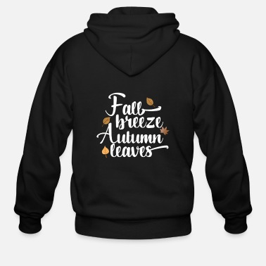 Fall Fall Breeze, Autumn Leaves - Men's Zip Hoodie