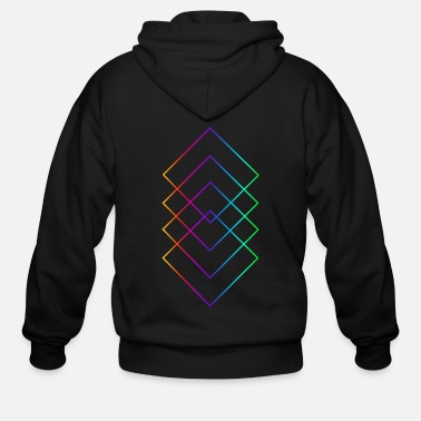 Quadrat Quadrat 'rainbow' - Men's Zip Hoodie