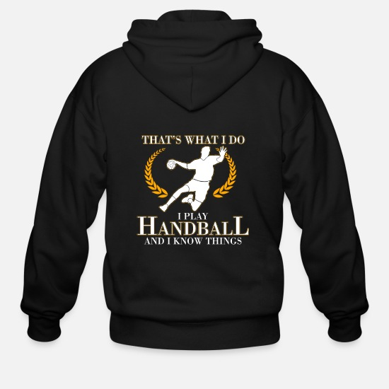 Gift Idea Hoodies & Sweatshirts - handball - Men's Zip Hoodie black