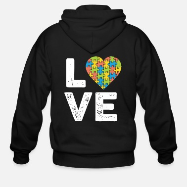 Piece Love of the Puzzle - Men's Zip Hoodie