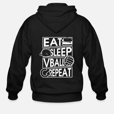 Net Eat Sleep Vball Repeat Volleyball Geschenk - Men's Zip Hoodie