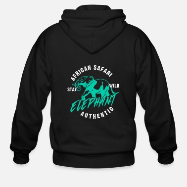 Zebra Safari animals - Men's Zip Hoodie