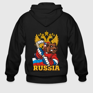 Russian Bear - Men's Zip Hoodie