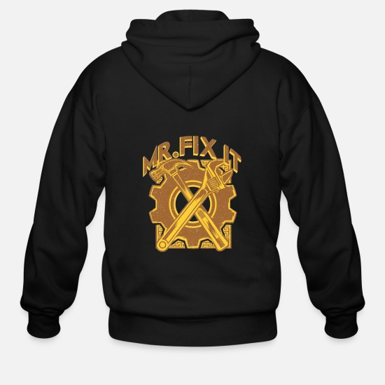 Mr Hoodies & Sweatshirts - Mr. Fix It - Men's Zip Hoodie black