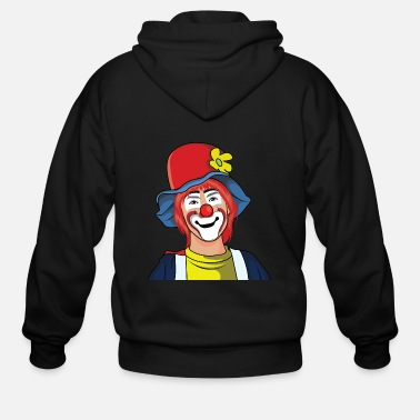 Illustration Clown Illustration - Men's Zip Hoodie