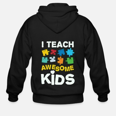 Teaching i teach awesome kids - Men's Zip Hoodie