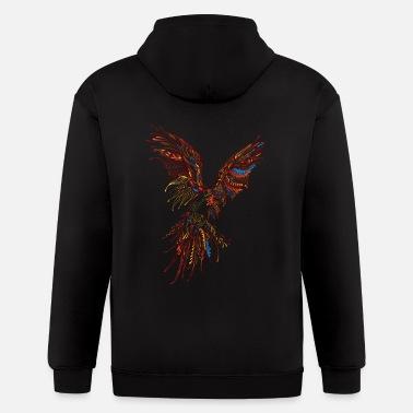 Parrot Abstract parrot wildlife bird vector drawing image - Men  39 s Zip  Hoodie 1677d0bc5