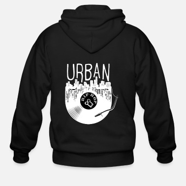 Hip Urban Hip Hop Old School Rap - Men's Zip Hoodie