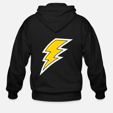 Lightning Yellow Lightning, lightning bolt - Men's Zip Hoodie