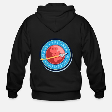 Occupy Mars Explorer - Men's Zip Hoodie