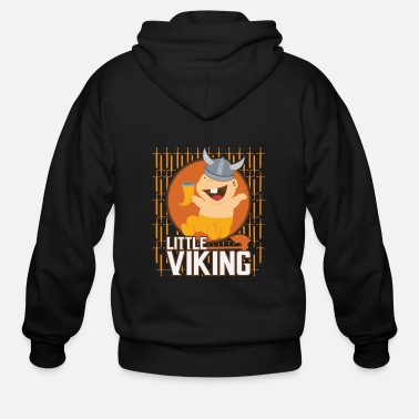 Uk Viking Baby Son Dad Fathers Day Valhalla Gods Gift - Men's Zip Hoodie
