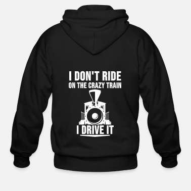 Steam Engine Locomotive Engineer Train Driver Railway Gift - Men's Zip Hoodie