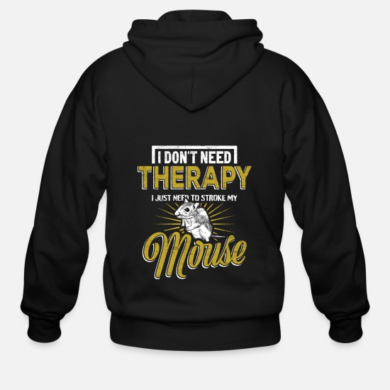 Mouse Hoodies & Sweatshirts - Mouse - Men's Zip Hoodie black