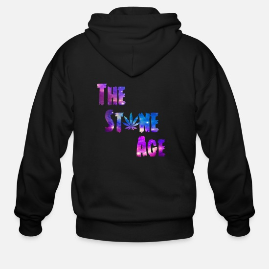 Age Of Consent Hoodies & Sweatshirts - Stone age - Men's Zip Hoodie black