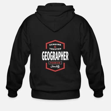 Geographic Geographer - Men's Zip Hoodie