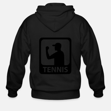 Workout tennis man - Men's Zip Hoodie