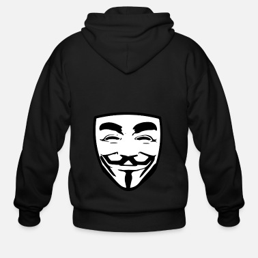 Anonymous anonymous guy fawkes - Men's Zip Hoodie