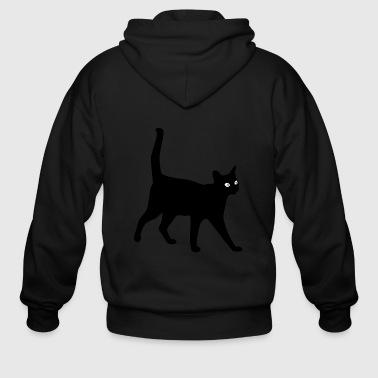 Cat black_cat - Men's Zip Hoodie