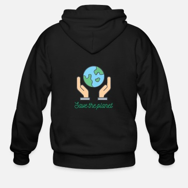 Save Planet - Save the planet - Men's Zip Hoodie