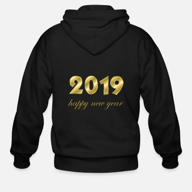 Production Year happy new year 2019 products - Men's Zip Hoodie