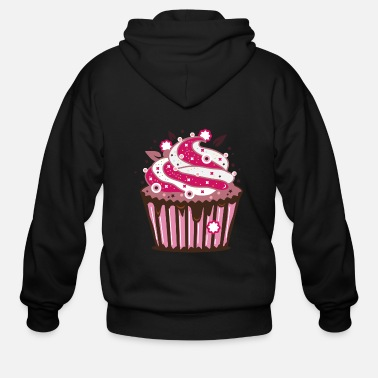 Cupcake A cupcake with frosting - Men's Zip Hoodie