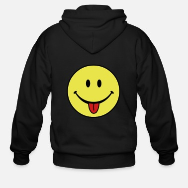 Hilarious smiley - Men's Zip Hoodie