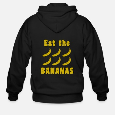 Eat the Bananas - Men's Zip Hoodie