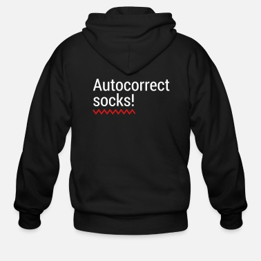 Mobile Phone Autocorrect Socks text message SMS Smartphone - Men's Zip Hoodie