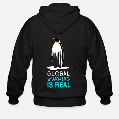 Greenpeace Global Warming Is a Real Planet Earth Challengue - Men's Zip Hoodie