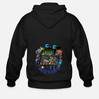 Cartoon Alternate Court Character Asylum - Men's Zip Hoodie