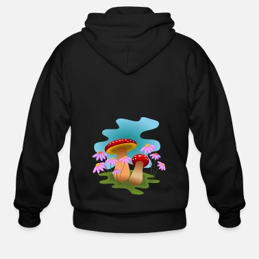 Magic mushrooms - Men's Zip Hoodie
