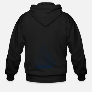 Sailboat Sailboat - Men's Zip Hoodie