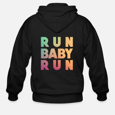 Run Baby Run - Men's Zip Hoodie