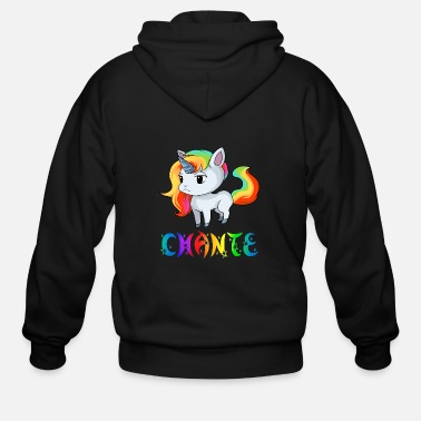Chant Chante Unicorn - Men's Zip Hoodie