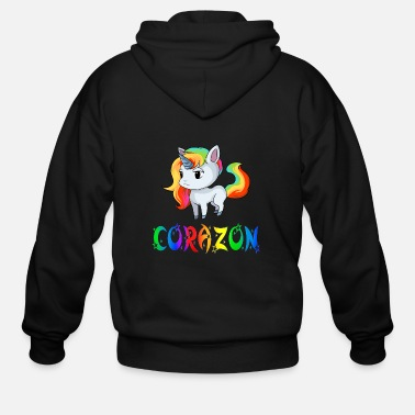 Corazon Corazon Unicorn - Men's Zip Hoodie