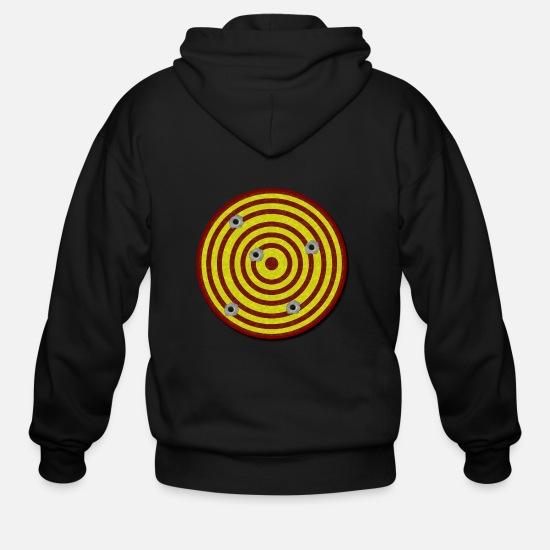 Gun Hoodies & Sweatshirts - Gun Target - Men's Zip Hoodie black