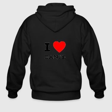 i love Dance - Men's Zip Hoodie