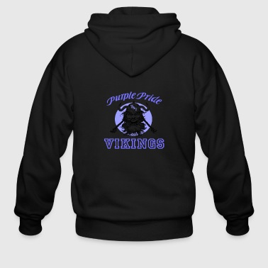 Purple Pride For Tennessee School for the Deaf - Men's Zip Hoodie