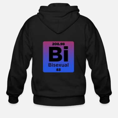 Bisexual Bisexual Element - Men's Zip Hoodie