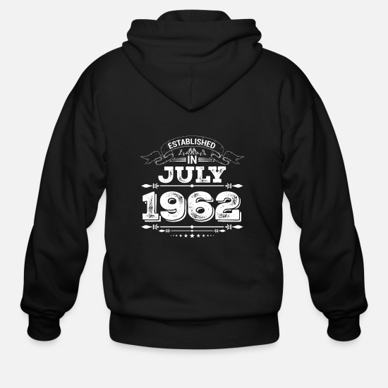 Year Hoodies & Sweatshirts - Established in July 1962 - Men's Zip Hoodie black