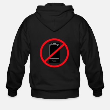 Mobile Phone Vector no mobile phones sign - Men's Zip Hoodie