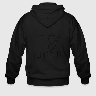 I Heart I Coffee - I heart Coffee - Men's Zip Hoodie