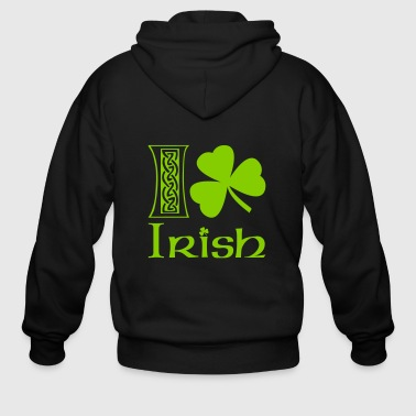 I Shamrock Irish - Men's Zip Hoodie